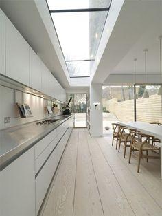 New kitchen modern interior design glass roof Ideas Kitchen Interior, Modern Interior, Interior Architecture, Interior Design, Terraced House, Victorian Terrace, Victorian Kitchen, Edwardian House, Modern Victorian