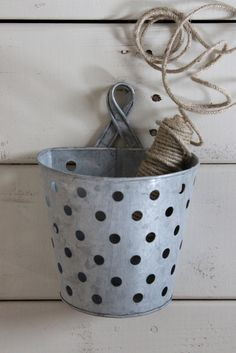 Metal industrial wall bucket for organizing and storage!