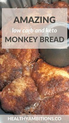 Keto Desert Recipes, Healthy Low Carb Recipes, Healthy Food Choices, Ketogenic Recipes, Ketogenic Diet, Keto Recipes, Cooking Recipes, Diet Food List, Monkey Bread