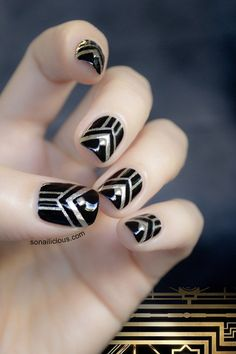 The Great Gatsby Nails - Tutorial