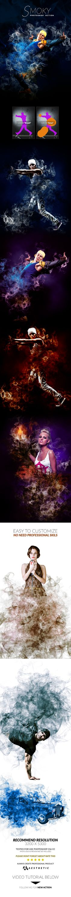 Smoky Action - Photo Effects Actions #PSAction #Photoshop #PS #Graphicriver #PhotoEffects #Design #Art