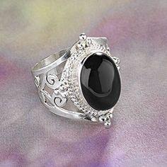 Rainbow Obsidian Ring
