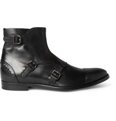 Alexander McQueen Buckled Leather Boots | MR PORTER