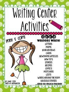 Writing Center Activities & Display
