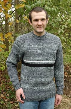 Ravelry: Men's Top Down Raglan Sweater free pattern by Elaine Phillips