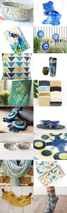 Summer Blue, Yellow Sun by anne on Etsy-- #blue #cobweb #scarf ##lapis #cat #bed #asure #basket #bowl #etsy #treasury Pinned with TreasuryPin.com