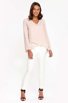 9c2186fb0ad54 Petite Blush Embellished Top - Tops - Clothing