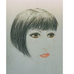 Flapper girl in pencil