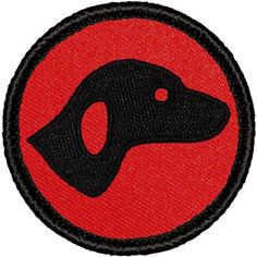 "Retro Hound Patrol Patch - 2"" Diameter Round Embroidered Patch"