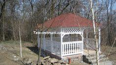 foisoare din lemn, sc home and garden design Srl Gazebo, Garden Design, Home And Garden, Outdoor Structures, Cabin, House Styles, Home Decor, Italia, Kiosk