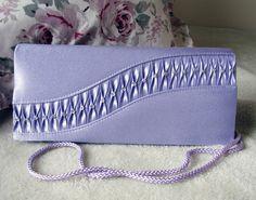 Vintage Purse Purple Clutch Handbag by Keepsakes By Katherine