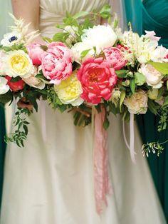 Peonies, roses and ranunculus