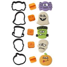 Wilton Make-A-Face Halloween Cookie Cutter Kit Wilton Cake Decorating, Cake Decorating Tools, Cookie Decorating, Fondant Flower Cake, Fondant Baby, Fondant Rose, Halloween Cookie Cutters, Halloween Cookies, Chocolates