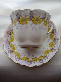 Paragon Teacup and Saucer ~ love the fluted edges!