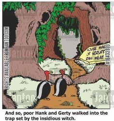 buzzards cartoon humor: Vulture Trap.