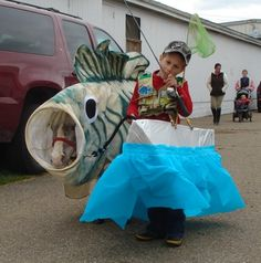 Horse and fisherman costume