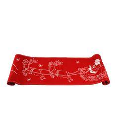 Look at this #zulilyfind! Santa's Flight Table Runner #zulilyfinds