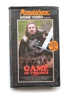 Game of Thrones. Retro VHS cover by Julien Knez
