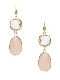 Rivka Friedman-  Double Stone Drop Earrings