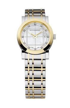 Burberry Timepieces Ladies' Diamond Bracelet Watch | Nordstrom - keeping time in timeless fashion, I love this watch