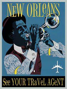 "Vintage Travel Poster ""New Orleans"""