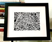 Paper cut map of Paris France by CUTdesignsrt on Etsy Paris Map, Paris France, Paper Cutting, Cut Paper, Maps, My Etsy Shop, Diy Crafts, Handmade Gifts, Frame