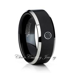 Comfort Fit Tungsten Wedding Band 0.07ct Ruby Solitaire Ring 8mm Sandblasted Black Tungsten Ring July Birthstone Ring