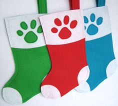 Pet Christmas Stocking  Dog or Cat  Sock Style by stitcholicious