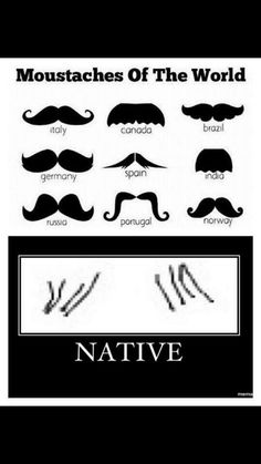 Native humor : native mustache