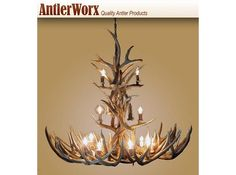 "12-14 Light XL Mule Deer Antler Chandelier3960 48"" X 48"""