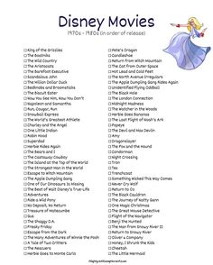 List of Disney Films - The Aristocats, Robin Hood, The Apple Dumpling Gang, The Rescuers, Return to Disney Original Movies, Disney Movies To Watch, Best Disney Movies, Disney Films List Of, List Of Disney Princesses, Disney Classics List, Classic Disney Movies, Disney Stuff, Movies To Watch List