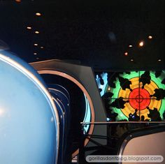 View from an Atomobile as Disneyland guests prepare to be shrunk in the Adventure Thru Inner Space microscope | Gorillas Don't Blog