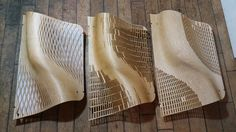 The Wooden Waves - Buro Happold - tests on the more opened components ©Mamou-Mani