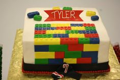 Great Lego birthday cake, perfect for this karate Lego boy birthday! See more party ideas at CatchMyParty.com. #lego #karate