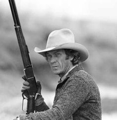 TOM HORN (1980) - Steve McQueen as stock detective 'Tom Horn' on location in Arizona - Screenplay by Thomas McGuane & Bud Shrake - Directed by William Wiard - First Artists/Warner Bros - Publicity Still.
