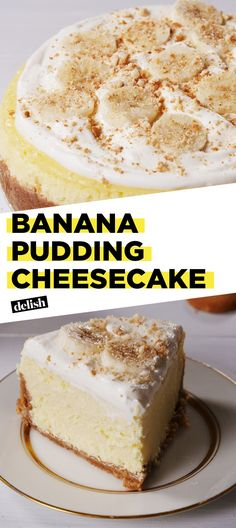 Banana Pudding Lovers Will Fall In Love With These Cheesecake Delish Banana Pudding Cheesecake, Best Banana Pudding, Cheesecake Recipes, Banana Pudding Cupcakes, Banana Dessert, Cheesecake Cake, Köstliche Desserts, Delicious Desserts, Yummy Food