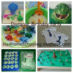 Okay so I think the dinosaur watermelon head is freakishly weird but awesome!     H is for Homeschooling: Dinosaur Birthday Party for Bam Bam!