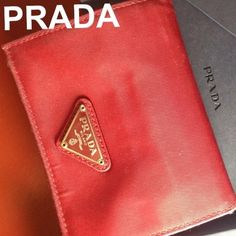 ⚡️⚡️SALE⚡️⚡️Prada ❤️AUTHENTIC❤️ Authentic Prada wallet!! Cannot bundle. Will be deleted if bundled. Red Prada wallet in fair condition. Signs of normal wear inside and out. Trifold. Has an area for coins, cards, and bills. More pictures available. 100% authentic comes with box.  I never sale fakes! Prada Bags Wallets