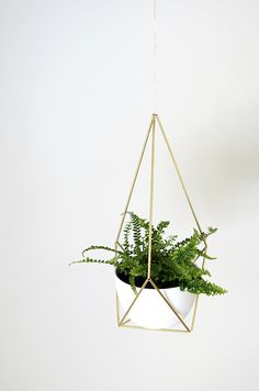 DIY Brass Himmeli Hanging Planter