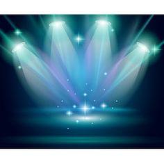 [フリーイラスト素材] イラスト, スポットライト, 光 / ライト, 舞台 / ステージ, 劇場, EPS ID:201403180300
