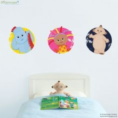 In the Night Garden badge wall stickers
