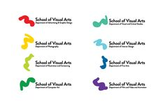 School of Visual Arts Rebranding by Zipeng Zhu, via Behance