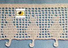 Ravelry: Feline Filet Edging pattern by Karen Glasgow Follett                                                                                                                                                     More