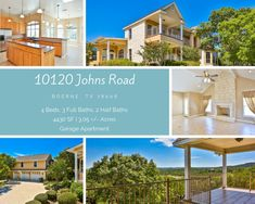 Hill Country Homes, Texas Hill Country, Garage Apartments, Winding Road, Full Bath, Acre, Beautiful Places, Real Estate, Mansions