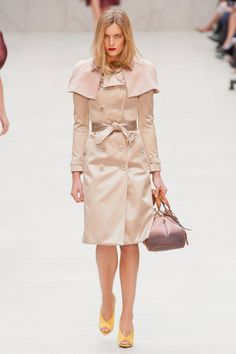 Classic coat but I don't know why she's so angry. Burberry Prorsum Spring 2013