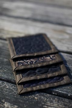 quilted coasters black & brown by btaylorquilts on Etsy, $15.00