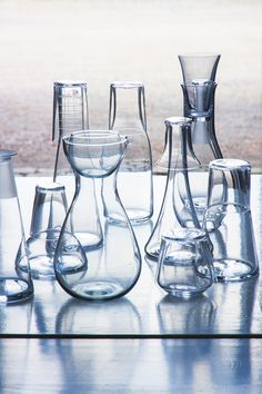 Ingegerd Råman has designed many different water carafes over the years for various Glassworks and for special commissions. Photo: National Museum.