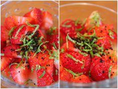 Jordbær med lakris og lime... Lchf, Sugar Free, Salsa, Vegetables, Ethnic Recipes, Food, Essen, Vegetable Recipes, Salsa Music