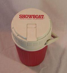 Showboat Casino Atlantic City Igloo Half Gallon Jug Flip Open Water Thermos #Igloo @eBay #ebay #VintagePhilly
