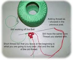 Proud To Be A Needle Tatter!: Hope This Helps Clarify any Problems with Adding Threads